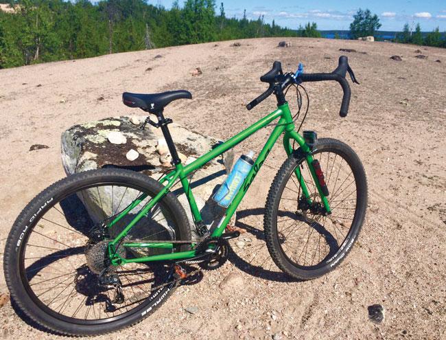 Mountain bike on Esker